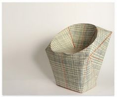 paper chair - volume by raw-edges design studio    folded wallpaper + a foam core
