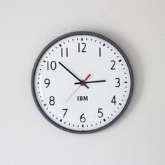 Industrial IBM office wall clock (maybe find one on eBay or Etsy?)