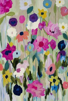 Trademark Art Trademark Fine Art Too Pretty To Pick Canvas Art by Carrie Schmitt Floral Prints, Art Prints, Arte Floral, Painting Inspiration, Flower Art, Watercolor Art, Canvas Wall Art, Art Projects, Illustration Art