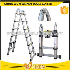 wuyi 1.9m+1.9m 3.8m double side telescopic extension ladder Aluminium Ladder, Telescope, Ladders, Tools, Staircases, Stairs, Stairways, Telescope Craft, Appliance