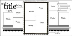 scrapbook 2 page layout, 10 pics #Double Page Scrapbook Layouts