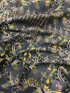 Printed Kalamkari cotton saree with printed blouse PC with rich pallu Kalamkari Saree, Cotton Saree, Printed Blouse, Sarees, Boutique, Prints, Photography, Collection, Fashion