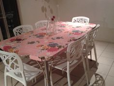 oilcloth covered table