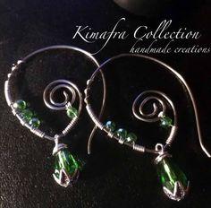 Acciaio inox e cristalli verdi