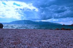 Pebble becahes of Vlore, Albania