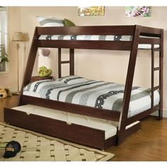 Arizona Solid Wood Espresso Finish Twin / Full Bunk Bed Set - http://www.furniturendecor.com/arizona-solid-wood-espresso-finish-twin-full-bunk-bed/ - Related searches: Bedroom Furniture, Beds and Bed Frames, Furniture, Home and Kitchen
