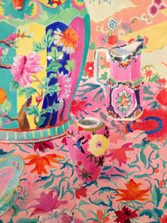 Painterly inspiration from the Kaffe Fasset: A Life In Colour exhibitionpreview last night@FashionTextile Museum
