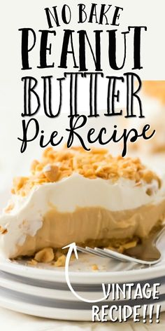 This easy peanut butter pie recipe is perfect. A classic dessert flavor, the best thing about it is that it is no bake. It only needs a freezer to make. Peanut Butter Pie Recipe No Bake, Peanut Butter Cream Pie, Best Peanut Butter, Peanut Butter Desserts, Homemade Peanut Butter, Best Dessert Recipes, Pie Recipes, Sweet Recipes, Delicious Desserts