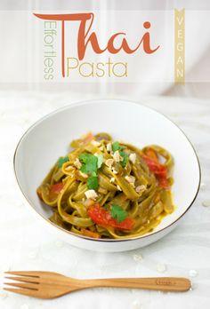 Effortless Thai Pasta: a no-fuss, one-pot meal (vegan).