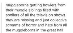 Muggleborn students at Hogwarts. These Muggleborn posts help me imagine what Hogwarts would be like for me.