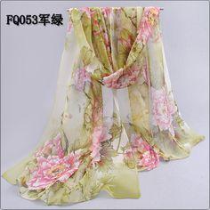 b31440852b23f Chiffon silk scarf 2018 scarf female summer autumn all-match scarf long  design air conditioning cape silk scarves shawl
