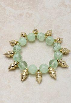 So Jaded Bracelet, Jewelry, jaded bracelet stretch spike gift fun, Chic Diy Jewelry, Beaded Jewelry, Jewelery, Jewelry Bracelets, Jewelry Design, Jade Bracelet, Turquoise Bracelet, Bracelet Designs, Best Gifts