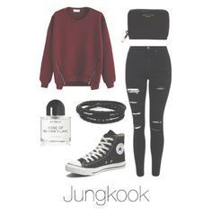 Valentine's Day with BTS ♡ Jin / Suga / J-Hope / Rap Monster / Jimin / Taehy. Teenager Outfits, Outfits For Teens, Fall Outfits, Casual Outfits, Kpop Fashion Outfits, Mode Outfits, Korean Outfits, Look Fashion, Korean Fashion