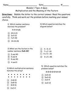 Looking for resources aligned to the Eureka Math Modules? Lafayette Parish in… Math Quizzes, Math Resources, Math Activities, Math Vocabulary, Eureka Math 4th Grade, Fourth Grade Math, Math Tutor, Teaching Math, Engage Ny Math