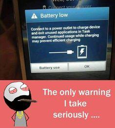 Warning to be taken seriously