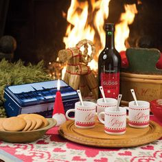 glögg - NOTHING in Sweden says 'Christmas time' as loudly as Glögg (mulled wine) and Gingerbread cookies :0)