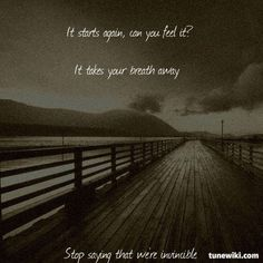 """-- #LyricArt for """"Reinventing Your Exit"""" by Underoath"""
