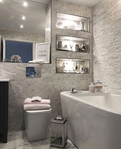Hope you've all had a lovely start to 2019 We've literally slobbed on the sofa a. - Home Design Bad Inspiration, Bathroom Inspiration, Home Decor Inspiration, Modern Bathroom Design, Bathroom Interior Design, Interior Decorating, Bathroom Renovations, Home Renovation, Home And Deco