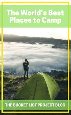 If you want to ensure that your night's beneath the stars are well spent, you're going to have to pick a great location. So, check out this list of some of the world's best places to camp! #GetOutdoors #Camping #adventure #campinglife Adventure Bucket List, Adventure Travel, Get Outdoors, The Great Outdoors, Bucket List Ideas For Women, Clear Night Sky, Best Places To Camp, See The Northern Lights, Adventure Activities