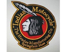 Indian Motorcycle Hendee 5 inch round black patch