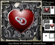 Love Hearts Valentines Eternal Heart 89f Tag on Craftsuprint - Add To Basket!