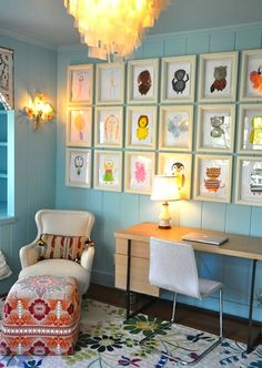 Framing your children's art is such a great way to tie it into your home's style. #layeredny