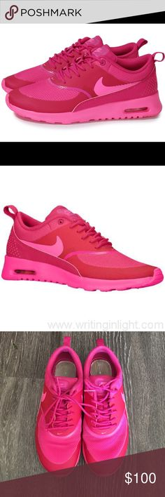 Hot pink nike air max Thea Worn only a couple of times ! Nike Shoes Athletic Shoes