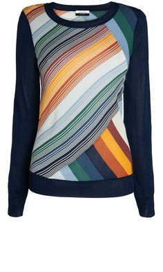 Boutique By Jaeger Printed Knit Jumper, £160