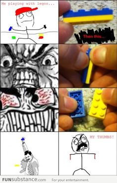 Le me playing with legos and this happens