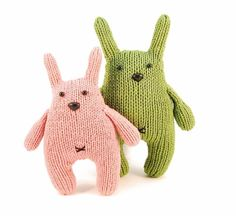 knit toy pattern from Danger Crafts: Chester the Bashful Bunny