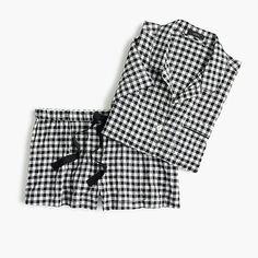 women's gingham pajama set - women's loungewear