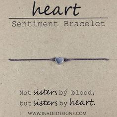 ******THE CURRENT PROCESSING TIME FOR THIS BRACELET IS 5-7 DAYS - THANK YOU FOR UNDERSTANDING***** Tell your friend who is like a sister how