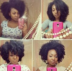 Her natural hair is gorgeous. #Kinky #straight #curly and #natural