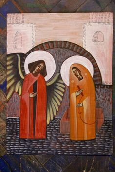 by Anna Kolisnyk (Ukraine) ___Annunciation (contemporary) Orthodox Icons, Annunciation, Byzantine Art, Graphic Illustration, Painting, Art, Modern Catholic, Christian Art, Sacred Art