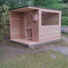 Outdoor Sauna, Outdoor Baths, Outdoor Rooms, Sauna House, Sauna Room, Rustic Saunas, Casa Bunker, Shed House Plans, Tiny House Exterior
