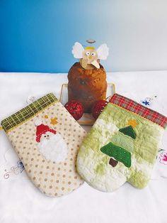 Luvas natalinas: dois modelos de luvas para presentear alguém que você gosta.