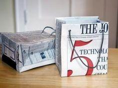 miniature sac a main tuto | Fabriquer un sac cadeau en papier journal - par Ideesd