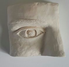 Rudolf Bitzer: Eye study of a young woman. Original in plasticine clay then casted with a waterbased resin 115 x mm Plasticine Clay, Eye Study, Small Sculptures, Resin, It Cast, Woman, The Originals, Home Decor, Decoration Home