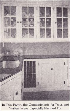 1912 kitchen. Interesting countertops. Wonder what they are?