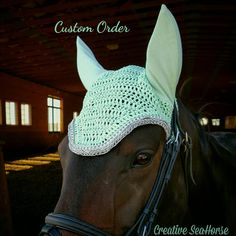Mint Green and Silver Grey Custom Show Horse by CreativeSeaHorse