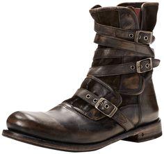 John Varvatos Men's Eg Triple Buckle Boot