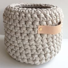 Crochet Basket with Leather HandlesThe Block Shop - Channel 9
