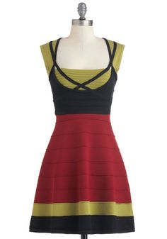Not sure exactly why, but I think I like this, despite (or because of?) the German countryside look.  #ModCloth