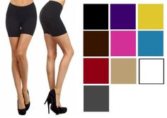 NEW Mini Spandex Hot Fitness Shorts Tights Seamless Stretch Juniors ONESIZE