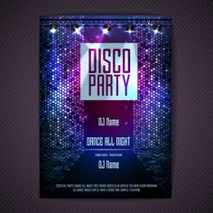 Disco background Disco poster vector image on VectorStock