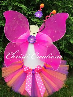 Girl Butterfly Costume - Toddler Tutu Costume - Pink, Orange and Purple by ChristiCreations on Etsy https://www.etsy.com/listing/202470454/girl-butterfly-costume-toddler-tutu