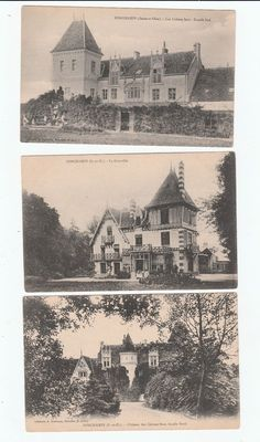 Sonchamps , three chateau  Postcards early 1900's unused not stamped