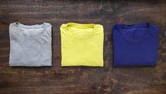 Here's a GIF demo on how to fold a shirt in less than three seconds flat.