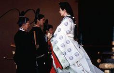 emperor-akihito_empress-michiko. The royals dressed in heian era court kimono