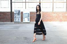 Asymmetric Lace Contrast Dress - Mikkat Market